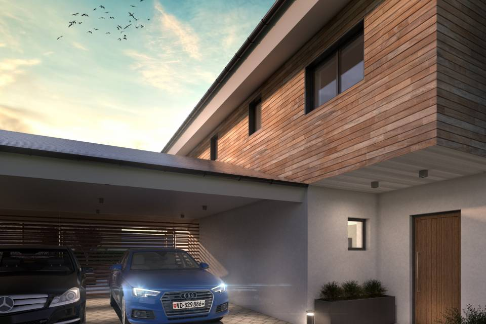 Villa jumelle par garages 5.5 pièces à LeVaud