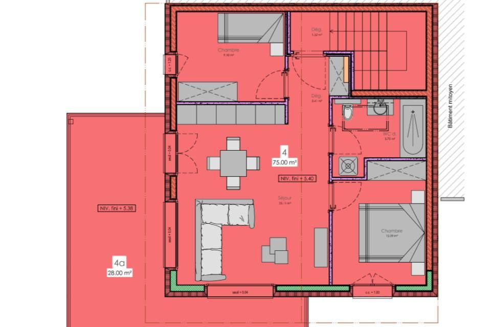 Appartement 3.5 pièces à Fully
