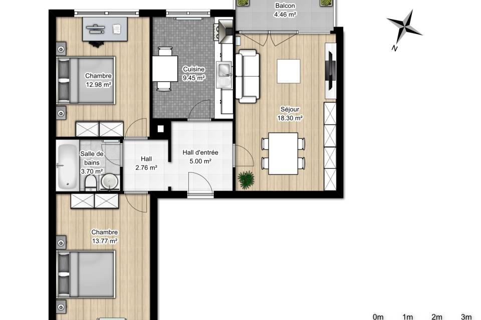 Appartement 3.5 pièces à Vétroz