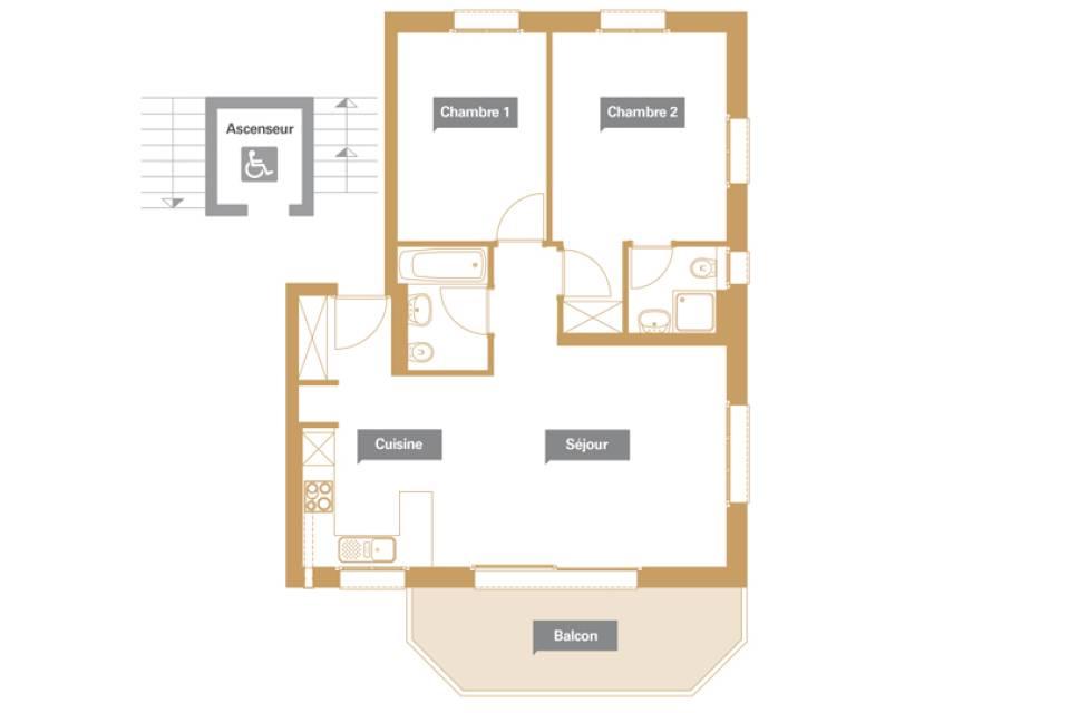 Appartement 3.5 pièces à Troistorrents