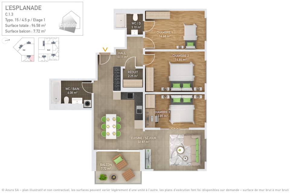 Plan 3D Typo 15
